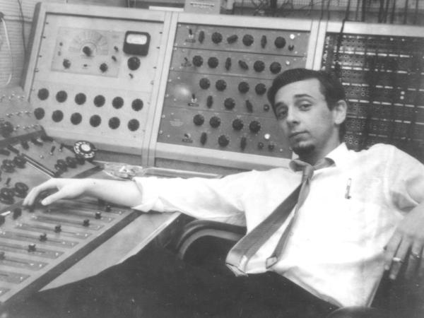 Phil Spector in the studio in an undated photo.
