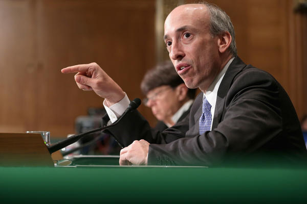Gary Gensler, pictured during a Senate hearing in July 2013, will be nominated to lead the Securities and Exchange Commission for the Biden administration.