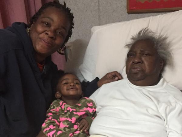 Lisa Howze, Gia Howze and Palestine Howze. Palestine Howze died last year. Now her family is suing Treyburn Rehabilitation Center, where she lived.