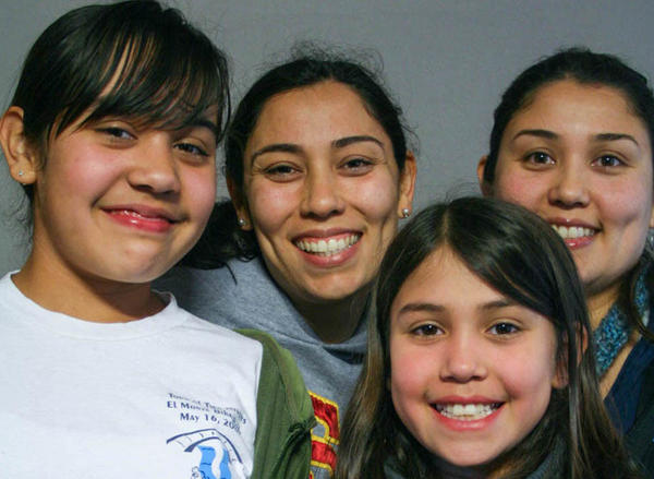Camila Martinez (from left), Corina Ulloa, Isabela Martinez and Brenda Ulloa Martinez spoke about growing up across two generations in the Los Angeles area at a StoryCorps recording in 2010.