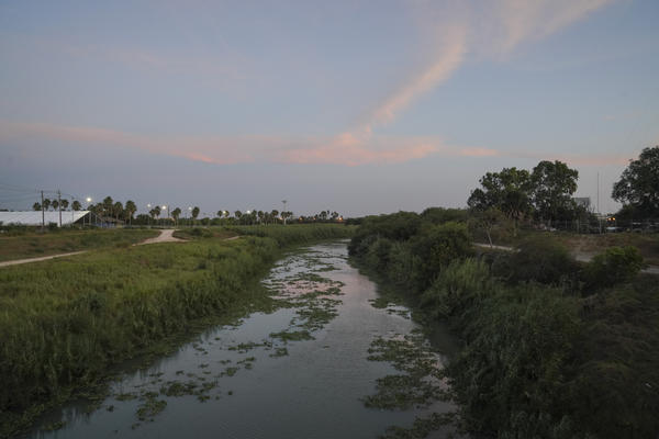 The Rio Grande as seen from the Gateway International Bridge in Matamoros, Mexico, in 2019. A mother and her four daughters from Honduras crossed the river nearly three years ago to seek asylum. The daughters were released from a federally funded shelter and placed with their father in Virginia. Their mother is in a shelter in Honduras.