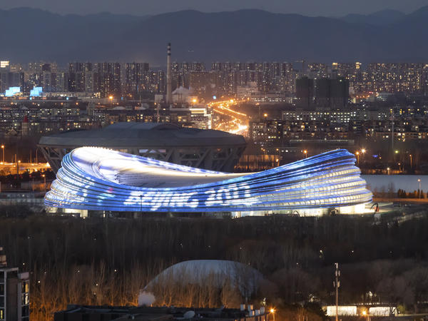 The National Speed Skating Oval, also known as the Ice Ribbon, is the venue for speed skating events at the Beijing 2022 Winter Olympics.