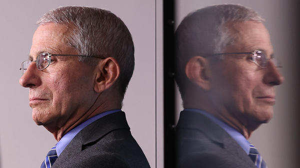 """Infectious disease expert Dr. Anthony Fauci says President Biden told him from the outset: """"We're going to make some mistakes along the way. We're going to stumble a bit. And when that happens, we're not going to blame anybody. We're just going to fix it."""" """"Boy, was that refreshing,"""" Fauci says."""