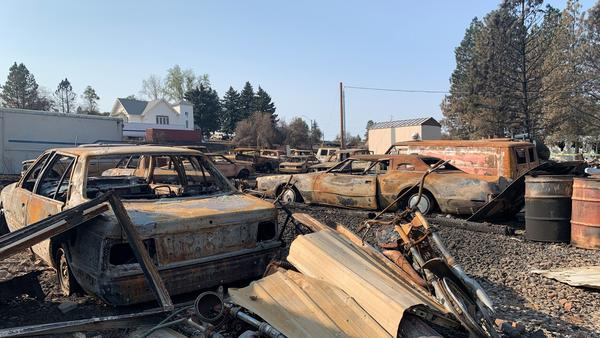 A wildfire raced through Malden, Wash., on Labor Day, 2020. Residents had only a few minutes to evacuate and returned to a largely destroyed town.