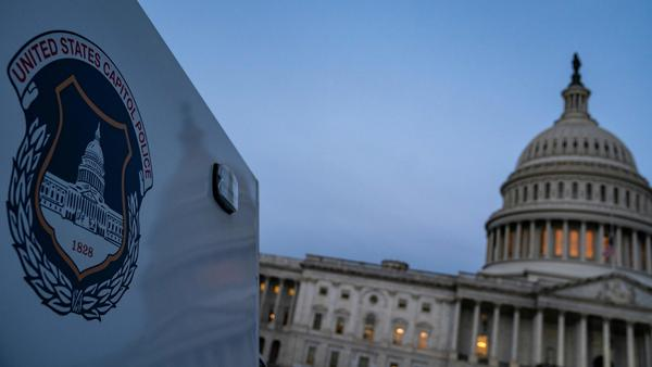 The U.S. Capitol Building is seen at sunrise as the remains of U.S. Capitol Police officer Brian Sicknick lays in honor in the Rotunda on Feb. 3.