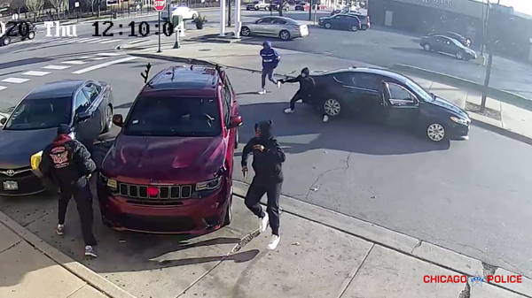 In early December last year, a video captured part of a shootout and attempted carjacking. A retired firefighter died. Chicago police say one of the four suspects was 15 years old.