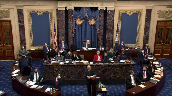 The Senate voted Tuesday that the trial of former President Donald Trump is constitutional and that he can be subject to the Senate as a court of impeachment.