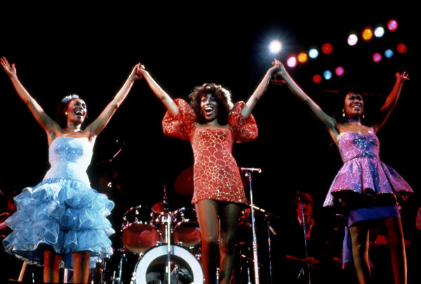 The Pointer Sisters performing in New York City in 1983, the year the group released its album <em>Break Out</em>, which included four top 10 hits.