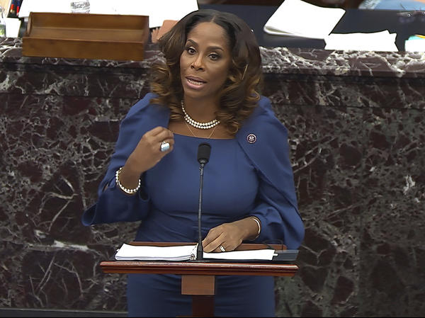"House impeachment manager Del. Stacey Plaskett, D-Virgin Islands, drew a stark comparison between the Americans who ""sacrificed their lives for love of country, honor, duty"" by stopping foreign terrorists from striking the Capitol on 9/11, and the insurgents who were ""incited"" by Trump to attack the seat of government."