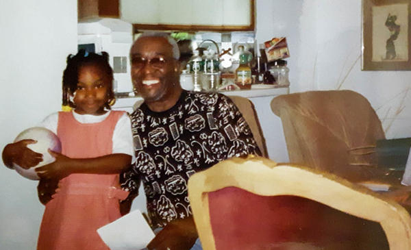 Young Jada Salter and her grandfather, William Salter, in 2002.