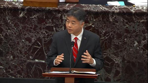 Rep. Ted Lieu, D-Calif., rebutted one of the defense team's arguments that the impeachment trial of former President Donald Trump is a political action by Democrats.