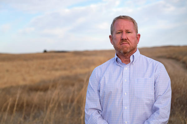 Hays City Manager Toby Dougherty at the R9 Ranch in Edwards County, Kansas.