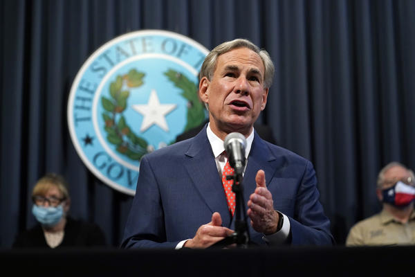 Texas Gov. Greg Abbott speaks during a news conference where he provided an update to Texas' response to COVID-19, Thursday, Sept. 17, 2020, in Austin, Texas.