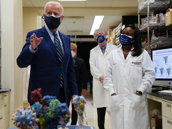 During remarks at the National Institutes of Health, President Joe Biden said his administration has secured enough Covid-19 vaccines to ensure the nation is on track to vaccinate 300 million Americans by mid-July.