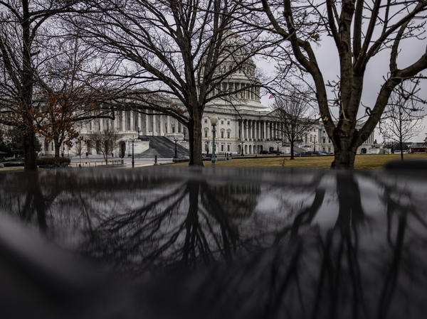 The U.S. Capitol on Thursday, the third day of former President Donald Trump's Senate impeachment trial.