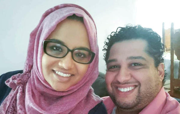 Namira Islam Anani and Omar Anani, pictured in metro Detroit last year, after Namira recovered from COVID-19.