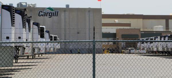 The Cargill beefpacking plant in Dodge City, Kansas.