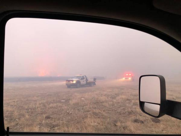 A mix of local and county fire departments, neighbors and businesses responded to the 3,200 acre Great Divide Fire north of Lindsay on Jan. 13, 2021.