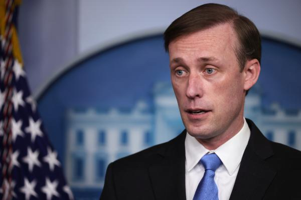 White House national security adviser Jake Sullivan, seen here during a press briefing on Feb. 4, told CBS the World Health Organization has more work to do to get to the bottom of where the coronavirus emerged.