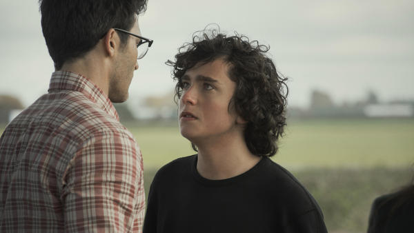 Clark Kent has a tense moment with his son Jordan in the CW's new <em>Superman & Lois.</em>