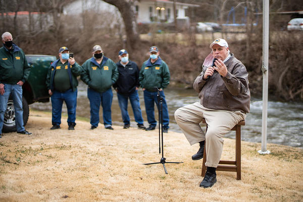Gov. Jim Justice met with members of the Buffalo Creek Watershed Association on the 49th anniversary of the Buffalo Creek Disaster.