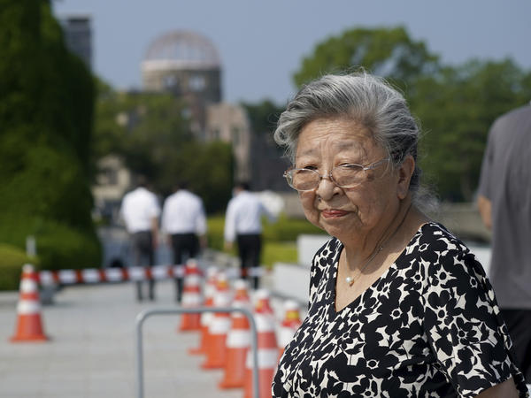 Koko Kondo at Hiroshima Peace Memorial Museum in Hiroshima, Japan, on Aug. 5. Kondo was determined to get revenge on the person who dropped the atomic bomb on her city. Then, she met him.