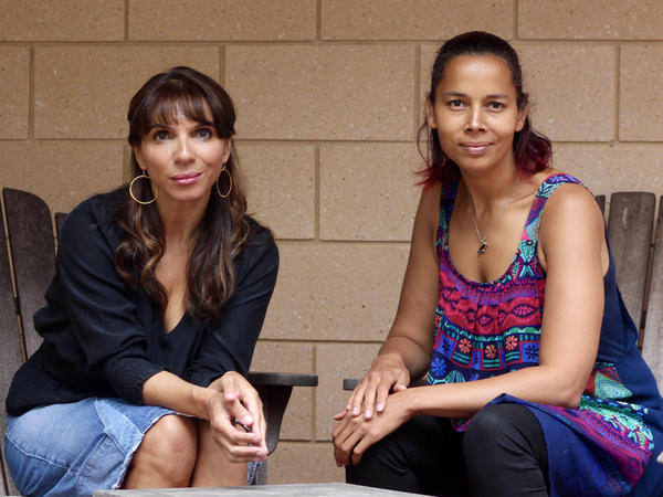 """In the first episode of Amplify With Lara Downes, the pianist (left) speaks with singer-songwriter, banjo player and MacArthur """"genius"""" Rhiannon Giddens."""