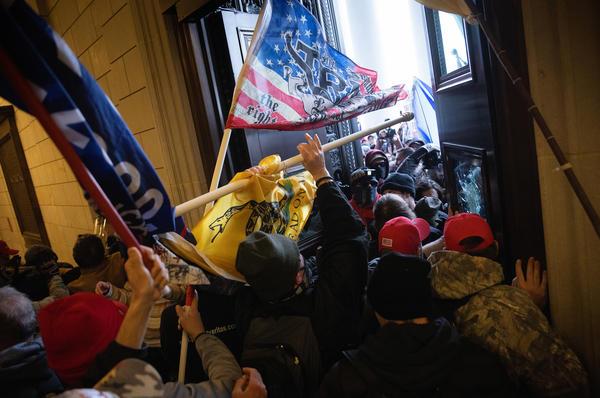 A pro-Trump mob breaks into the U.S. Capitol.