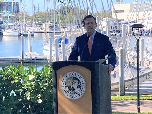 House Speaker Chris Sprowls, R-Palm Harbor, unveils the proposals at USF St. Petersburg