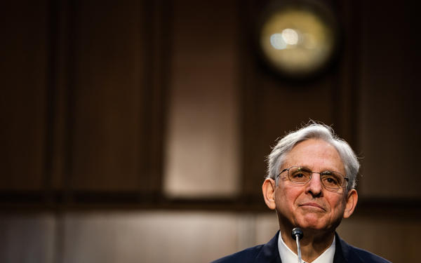 Merrick Garland speaks during his attorney general confirmation hearing with the Senate Judiciary Committee on Capitol Hill on Feb. 22.