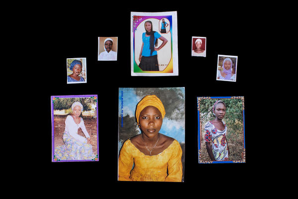An image from the book <em>Bring Back Our Girls. </em>The families of these missing girls sent photos of them to photographer Glenna Gordon.