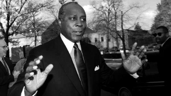 Vernon Jordan has died at 85. He's seen here in November of 1992, when he led then-President-elect Bill Clinton's transition team.