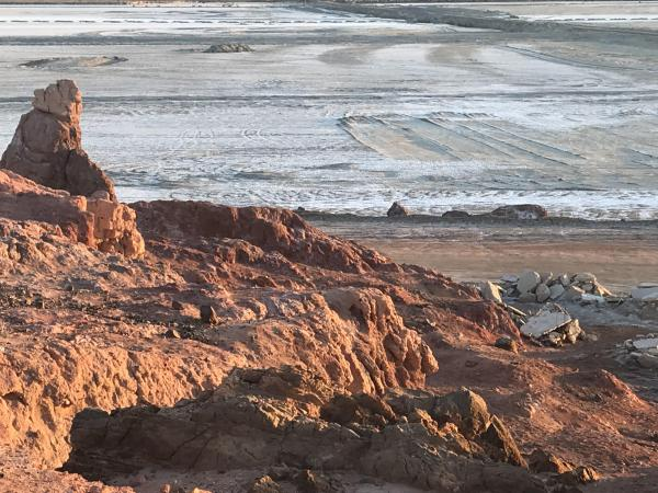 The Salton Sea's Red Hill Bay has been the focus of some dust control efforts.
