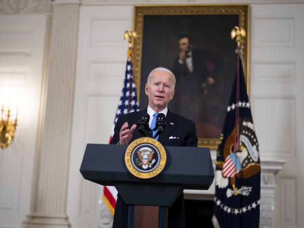 President Biden delivers remarks on the coronavirus crisis on March 2.