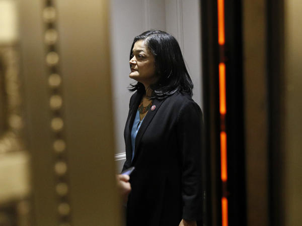 """""""You know, it's like a gut punch to millions of people,"""" Washington Rep. Pramila Jayapal, who chairs the House Progressive Caucus, said about the $15-an-hour minimum wage coming out of President Biden's COVID-19 relief package. But she says her vote will be based on the bill as a whole, even though it doesn't include the wage hike."""