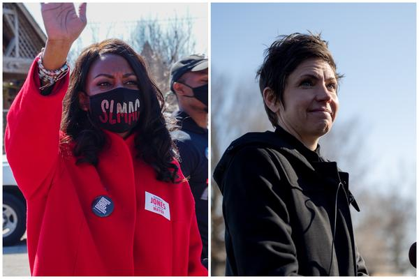 Tishaura Jones (left) and Cara Spencer will face off in a runoff election for St. Louis Mayor on April 6.