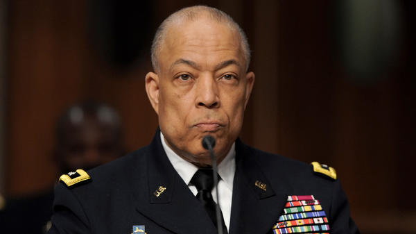 Maj. Gen. William Walker, commanding general of the D.C. National Guard, is seen during a joint hearing to discuss the Jan. 6 attack on the U.S. Capitol.