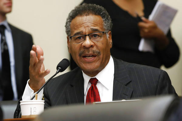 In this June 27, 2018 file photo, Rep. Emanuel Cleaver, D-Mo., asks a question during a committee meeting in Washington. Cleaver is one of two U.S. House Representatives allegedly threatened by a Marionville, Missouri, man.