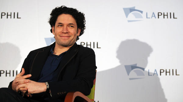 Gustavo Dudamel during a press conferece on Sept. 30, 2009 in LA, around the time he was named the music director of the LA Philharmonic.