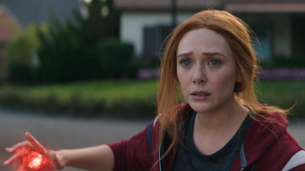 Elizabeth Olsen as Wanda Maximoff — soon to become the Scarlet Witch — in <em>WandaVision</em>.