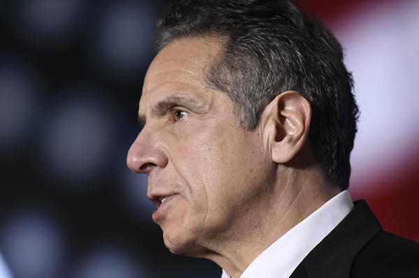 """On Feb. 28, 2021, New York Gov. Andrew Cuomo acknowledged for the first time that some of his behavior with women had been """"misinterpreted as unwanted flirtation,"""" and he would cooperate with a sexual harassment investigation led by the state's attorney general. (Hans Pennink/Pool/AP)"""