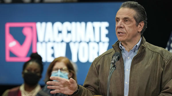 New York lawmakers approved a bill Friday to strip Gov. Andrew Cuomo of the extraordinary authority to issue COVID-19 directives — a power it granted last year. But the measure allows existing orders to be extended. Cuomo is seen here during a news conference last month.