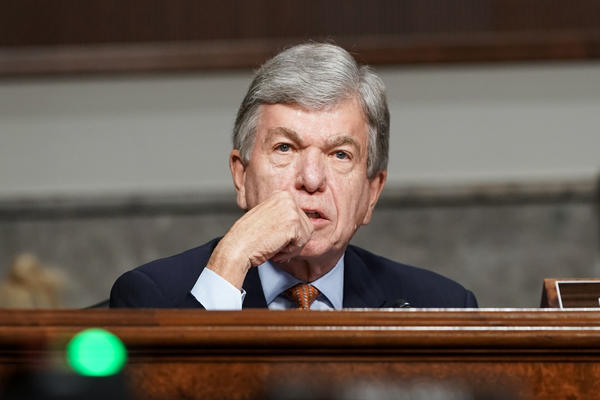 Missouri Sen. Roy Blunt, seen here during a Senate hearing on Wednesday, announced he will not run for reelection in 2022.