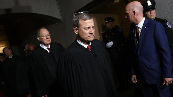 Supreme Court Chief Justice John Roberts broke with his colleagues on the court, filing a solo dissent for the first time in his nearly 16 years on the bench.