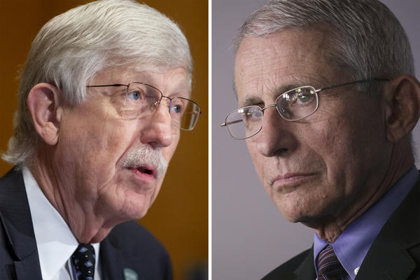 Dr. Francis Collins, left, and Dr. Anthony Fauci are two of the most public faces of the U.S. fight against the coronavirus pandemic.