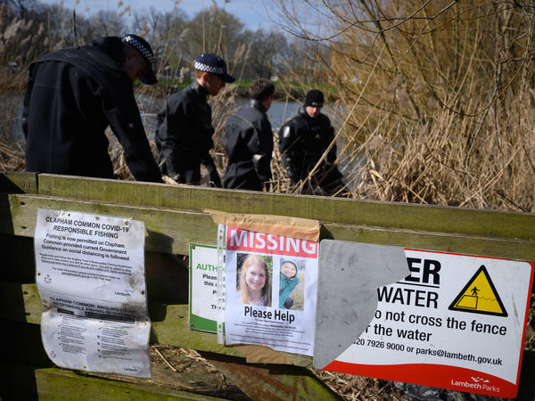 The search for Sarah Everard brought police on March 9 to Mount Pond in Clapham Common, where a poster asks the public for help locating the missing London woman. Authorities said the next day that officers found what they believe to be human remains in a wooded area in Kent.
