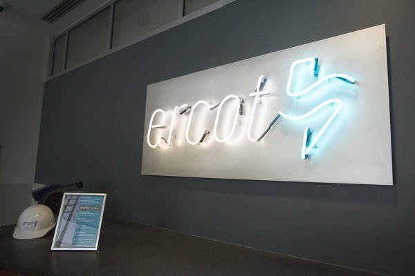 Inside the offices of the Electric Reliability Council of Texas, or ERCOT, in Taylor, Texas, in 2018.