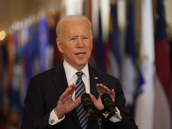 "President Biden did not call out his predecessor by name during his Thursday night address, but he did say that a year ago, the country was ""hit with a virus that was met with silence"" and ""denial."""