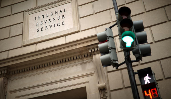 The Internal Revenue Service is pictured in April 2020 in Washington, D.C. The IRS has faced huge challenges in recent years, and new coronavirus relief bills introduce new complexity to the agency's work.