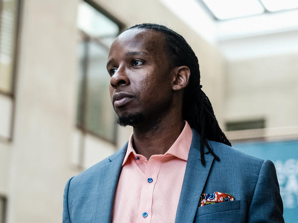 Author, professor and anti-racism activist Ibram X. Kendi, pictured in Sept. 2019, is one of the co-founders of <em>The Emancipator</em>. The new publication is the result of a partnership between Boston University's Center for Antiracist Research, which Kendi leads, and T<em>he</em> <em>Boston Globe</em> newspaper.
